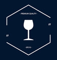 wineglass icon symbol vector image