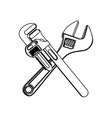 wrench tool icon image vector image