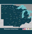 midwestern united states vector image