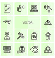 14 icons vector image vector image