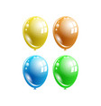 a set of multi-colored balloons vector image vector image