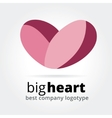 Abstract heart logotype concept isolated on white vector image