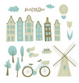 amsterdam design vector image vector image