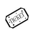 Amusement park ticket black simple icon vector image vector image