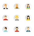 Avatar icons set flat style vector image