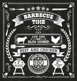 BBQ Chalkboard vector image vector image