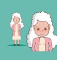 beautiful grandmother cartoon vector image vector image