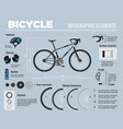 bicycle infographic elements composition vector image vector image