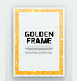 blank paper with modern gold frame metal vector image vector image
