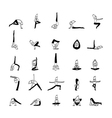 cartoon character man practicing yoga for design vector image
