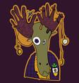 cartoon deer character vector image vector image