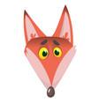 cartoon fox head icon vector image vector image