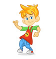 cartoon funny boy dance vector image