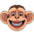 cartoon monkey head mascot vector image vector image