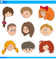 children cartoon characters set vector image vector image