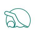 circle shape swimming sport figure outline symbol vector image