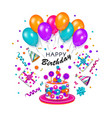 colorful happy birthday greeting card banner vector image vector image