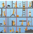 Construction Process Background vector image vector image