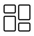 desktop application templates bar label style page vector image
