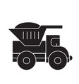 dump truck black concept icon dump truck vector image vector image