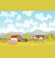 eco farming meadow eco natural vector image