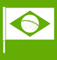 flag of brazil icon green vector image vector image