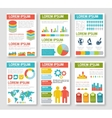 Flat infographic elements set vector image vector image