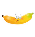 fun banana cartoon character vector image vector image