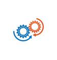 gear logo template icon vector image vector image