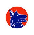 german shepherd silhouette mascot vector image