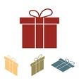 gift box icon set Isometric effect vector image