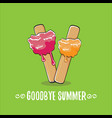goodbye summer concept vector image