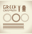 greek traditional ornament meander border set vector image