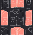 hand drawn seamless pattern with jeans wear vector image vector image