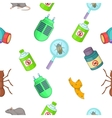 Harmful insects pattern cartoon style vector image vector image