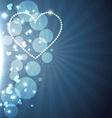 heart background design vector image vector image