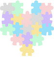 Heart puzzle vector image