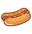 hot dog fast food icon vector image