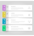 Infographics Design template Numbered banners vector image