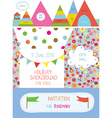 Invitation or banner for kids holiday - cute vector image vector image