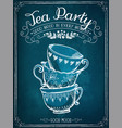 invitation to tea party vector image vector image