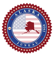 Label sticker cards of State Alaska USA vector image vector image