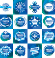 large set of logos for frozen products vector image vector image
