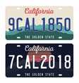 license plates isolated on white background vector image vector image