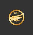 logo angel wing vector image vector image