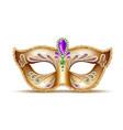 mardi gras venetian mask brazil carnival vector image vector image