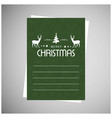 merry christmas greetings design with green vector image vector image