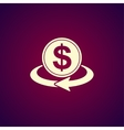 money convert icon vector image vector image
