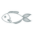 monochrome contour of trout fish vector image vector image