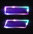 night club neon signs set blank retro light frame vector image